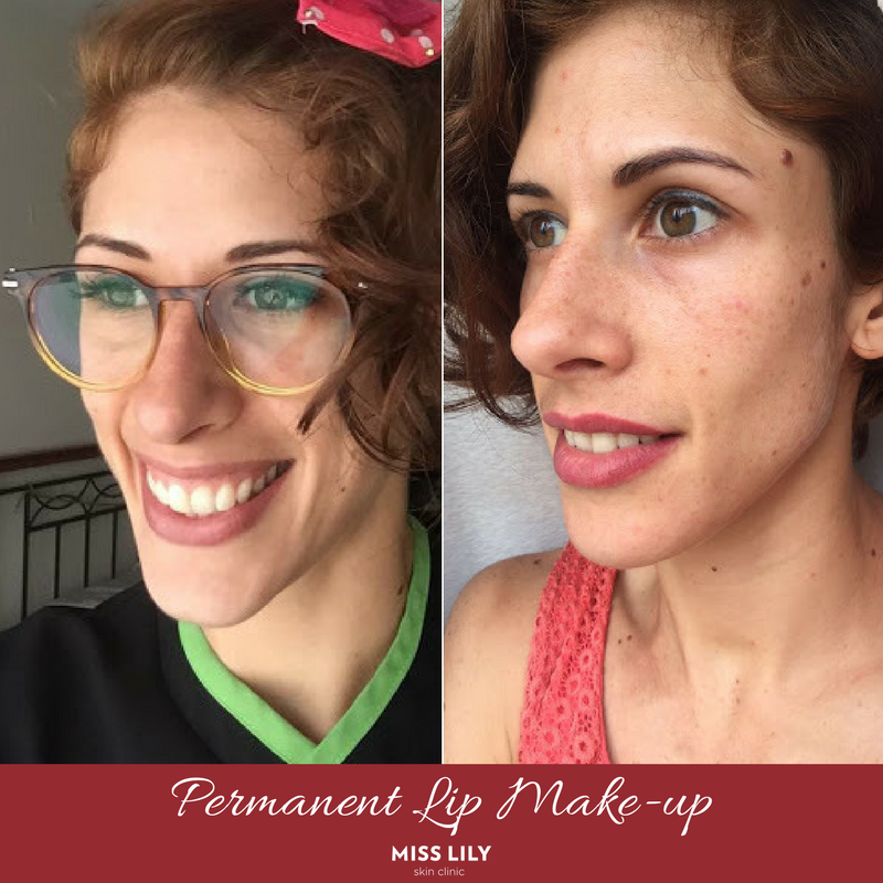 lips, before after, permanent makeup, permanent lipstick, wake up beautiful, beauty, aesthetics, healed result, makeup, specials, special offer, special