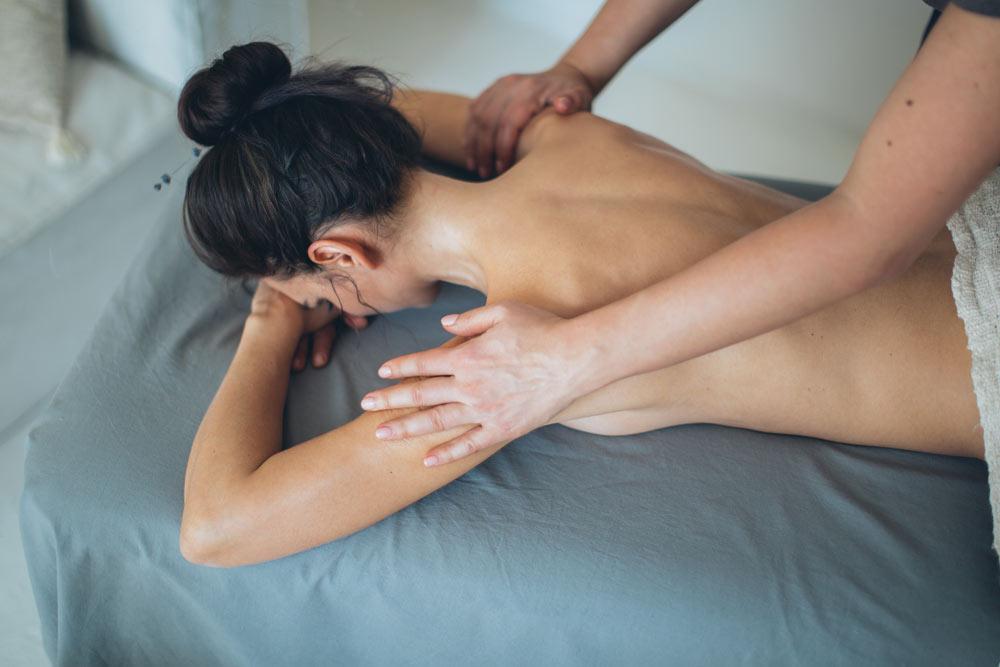 back, neck, shoulder massage