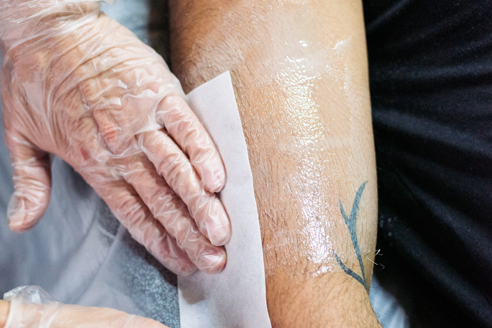 mens arm wax