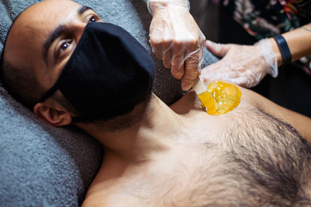 Mens chest wax